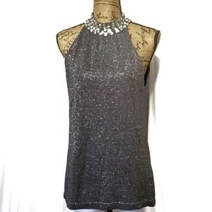 Joseph A. Sleeveless Metallic Blouse